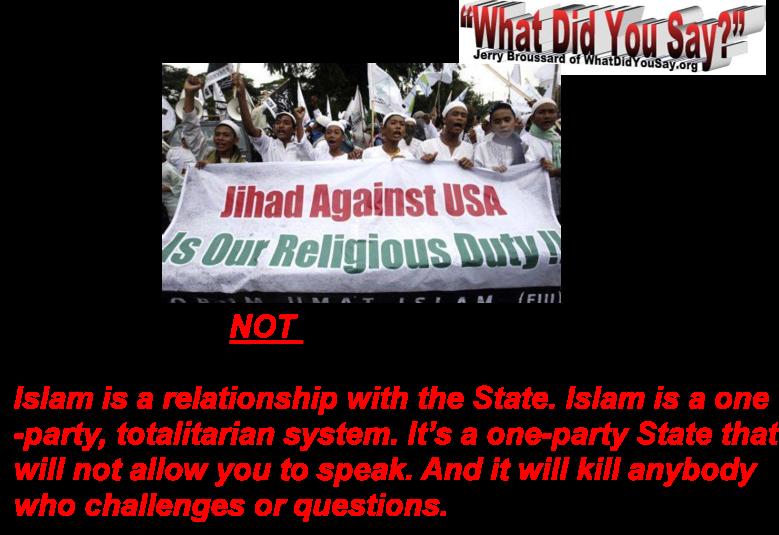 Islam is NOT