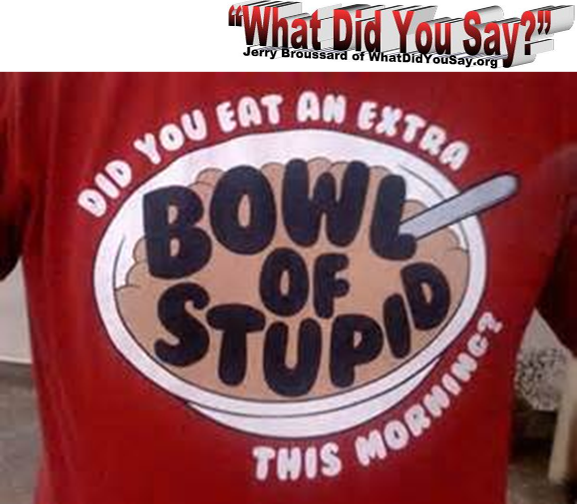 extra bowl of stupid