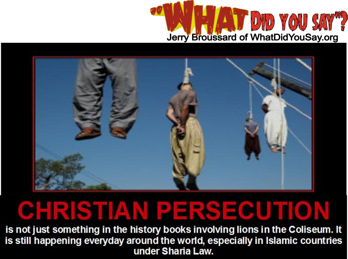 Globally, religious persecution is Christian persecution |Religious Persecution