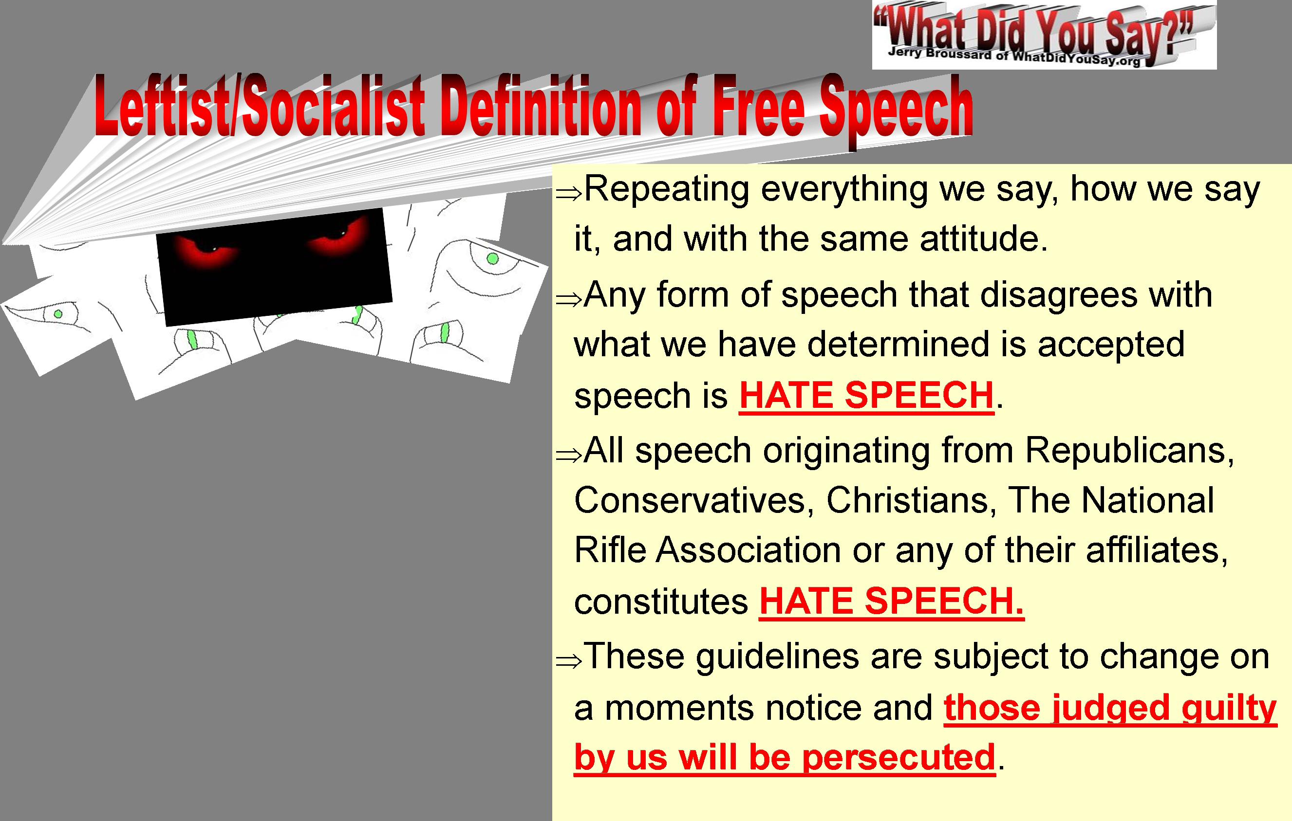 free speech def